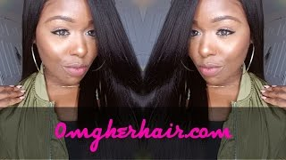 Italian Yaki Lace front wig ft. Omgherhair.com