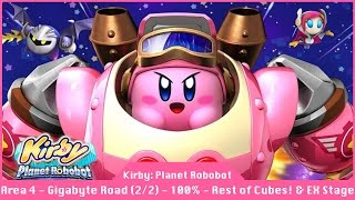 Kirby: Planet Robobot - Part 6 - Remaing Cubes Area 4 Gigabyte Grounds - 100% Cube Code Walkthrough