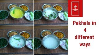 Pakhala Recipe in 4 different ways