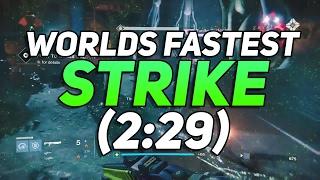 Destiny - Worlds Fastest Strike! Taniks Perfected Speedrun WR (2:29)