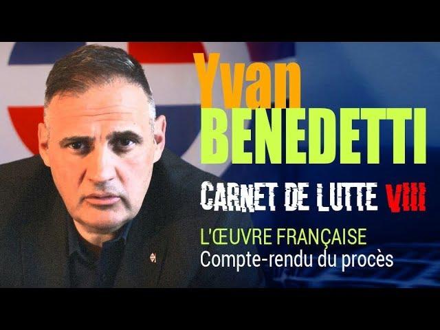Carnet de Lutte VIII - Procès reconstitution de l'Oeuvre française