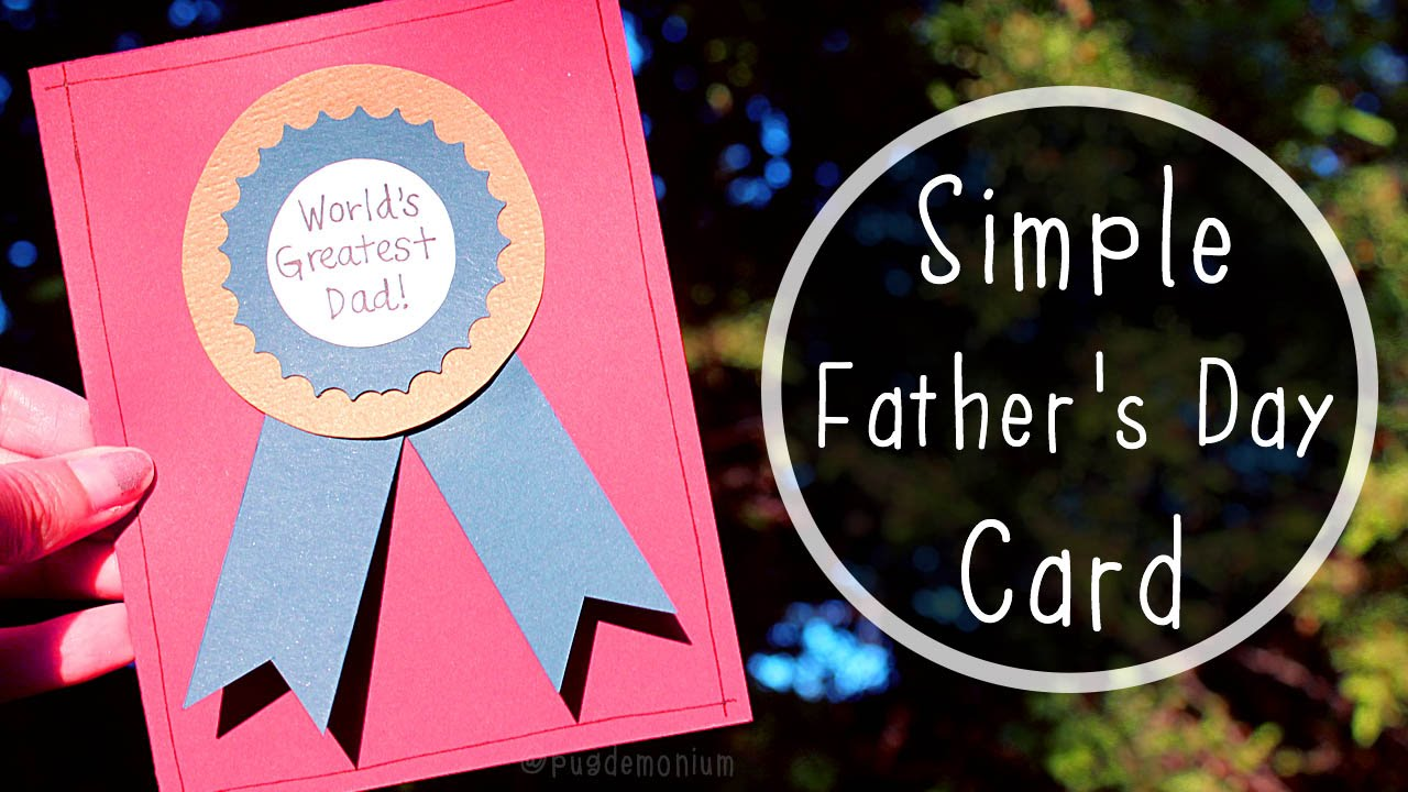 simple father s day card tutorial youtube