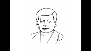 How to draw John f kennedy face pencil drawing step by step