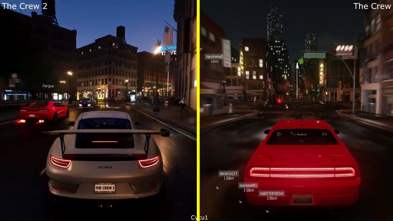 the crew ps4 pro vs the crew 2 e3 2017 early graphics comparison youtube. Black Bedroom Furniture Sets. Home Design Ideas