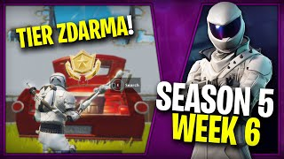 WHERE is the SIXTH FREE TIER FOR SEASON 5 (Week 6)-Fortnite Battle Royale CZ/SK | Lego007las