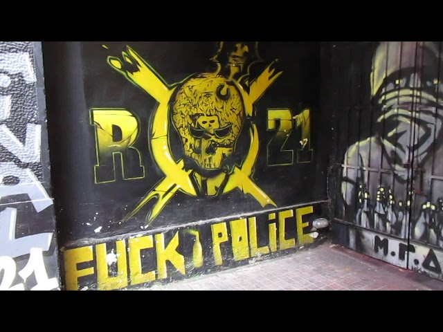 Greece - Athens - Walking in Exarcheia (Anarchist neighborhood)