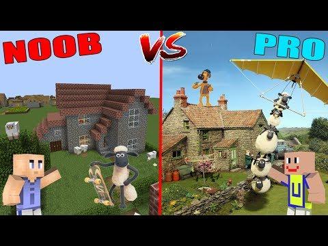 minecraft:-noob-vs-pro---rumah-shaun-the-sheep