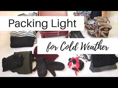 Packing Light for Cold Weather | Winter Travel | Minimalist Packing