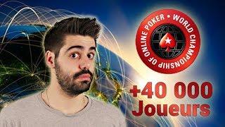 ON EST 40 000 SUR LES CHAMPIONNATS DU MONDE DE POKER EN LIGNE