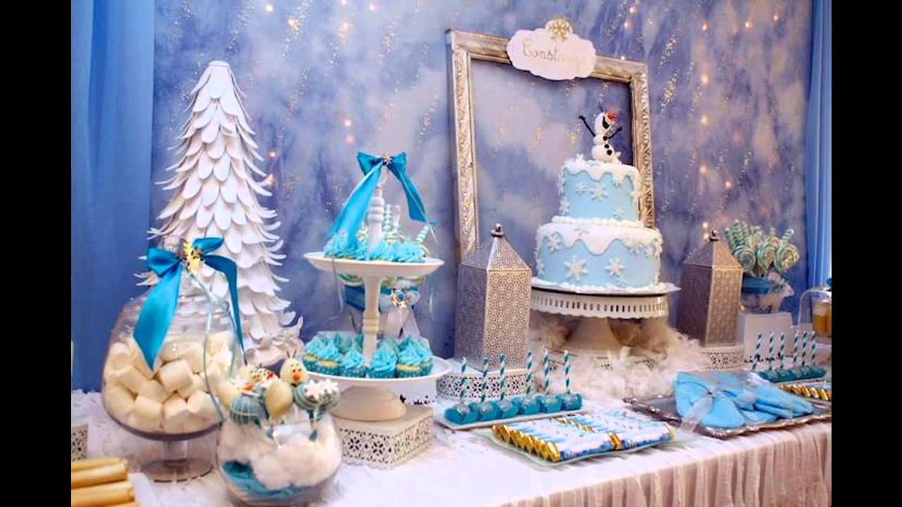 creative winter wonderland birthday party youtube. Black Bedroom Furniture Sets. Home Design Ideas