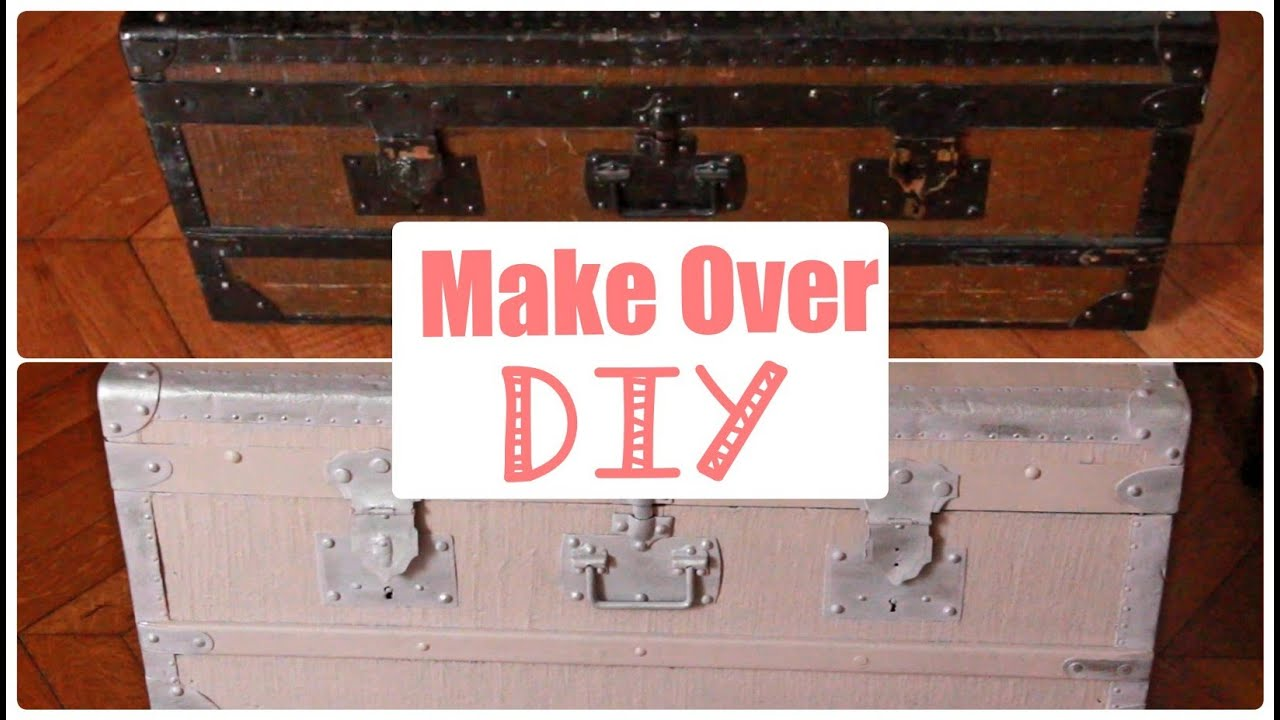 Repeindre Une Malle En Bois ✮ diy ✮ renovation malle ✮ style shabby chic✮ make over trunk | caly beauty