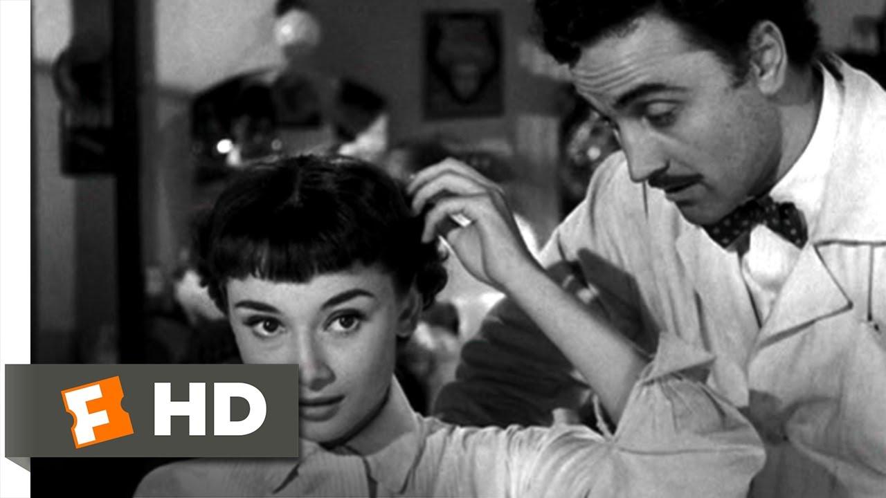 Roman Holiday 810 Movie Clip Short Haircut 1953 Hd Youtube