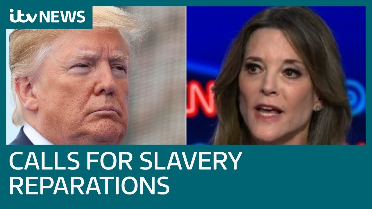 Democratic presidential candidate calls for slavery reparations | ITV News