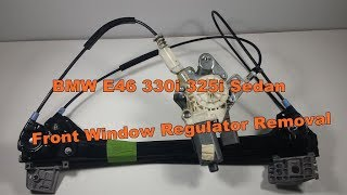 Bmw E46 330i 325i 323i Sedan Window Glass Regulator Removal