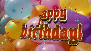 Happy Birthday song.Footage animation 4k.Happy Birthday Background.Песня хаппи бездей тую.