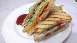 Club Sandwich Recipe  How To Make Club Sandwich  Club Sandwich