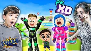 PULANDO no DESAFIO da CIDADE do PK XD - Família Rocha Games