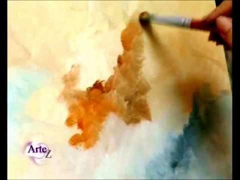 C mo pintar cielos al leo parte ii youtube - Como pintar al oleo paso a paso ...