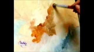 Repeat youtube video Cómo pintar cielos al óleo parte II