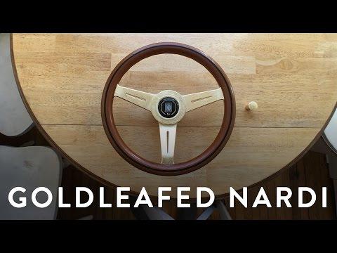 DIY Goldleaf on my Nardi Steering Wheel and drift button