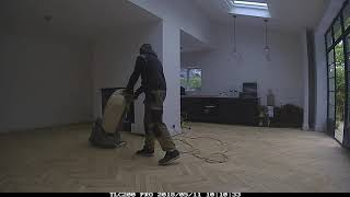 Liverpool oak reclaimed parquet floor installation and sanding time-lapse Passion Floors