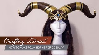 Crafting Tutorial - How to make foam horns for cosplay [ENG/GER] | JakCosplay