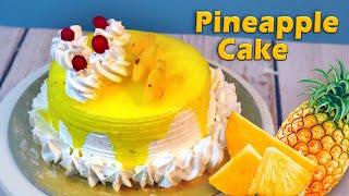 pineapple cake  Eggless Cake Recipe  Homemade Pineapple Cake Eggless recipe by tick tock kitchen