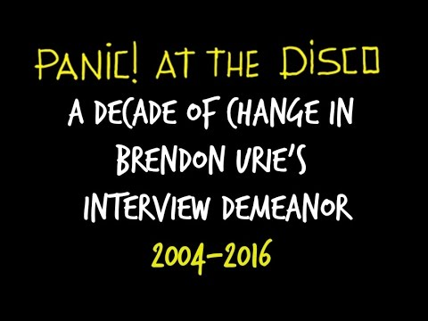 A Decade of Change: The Evolution of Brendon Urie's Interview Demeanor (2004-2016)