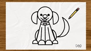 Simple Shape Sketches: How to Draw a Dog