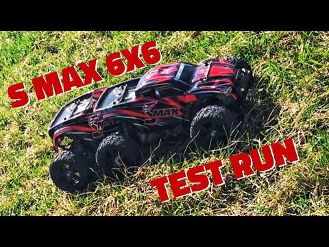 Remo S MAX 6x6 тест-драйв на траве и асфальте