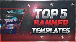 📸 TOP 5 FREE YouTube Banner Templates #18 | FREE DOWNLOAD! (Fortnite Edition)
