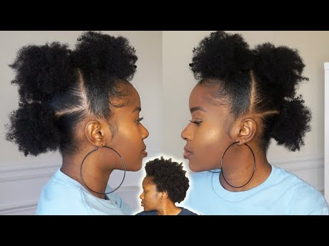 how-to-do-afro-puffs-mohawk-on-short-4c-natural-hair!!!-quick-&-easy!! mona-b.