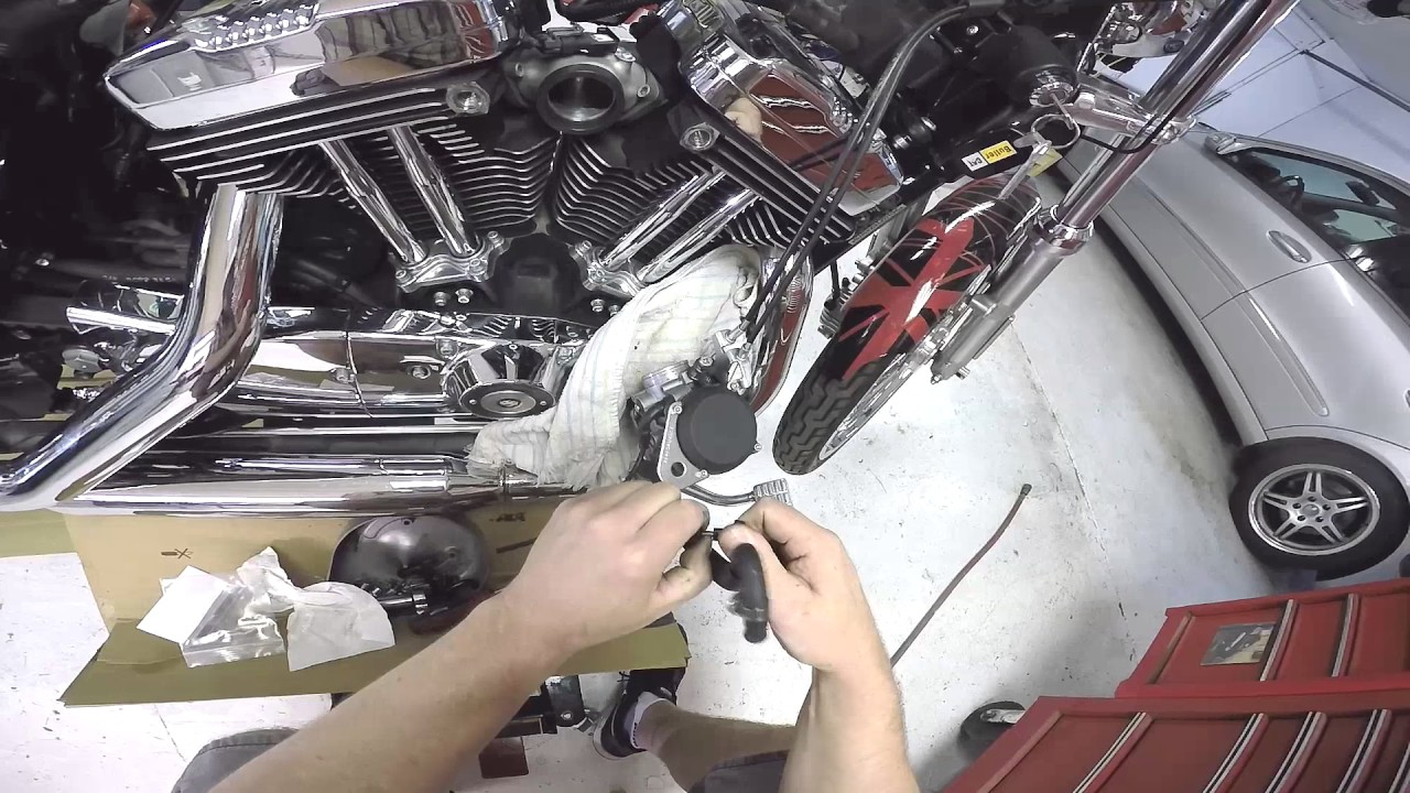 Harley CV Carb Choke Relocation and Jet