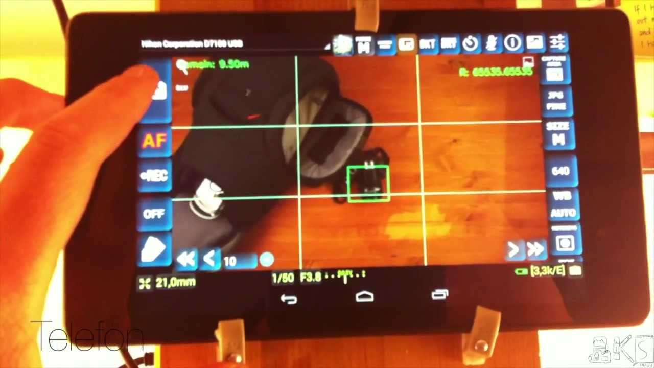 Nikon DSLR + Android Tablet - DSLR Dashboard - externes Monitoring/external  monitoring (english sub)