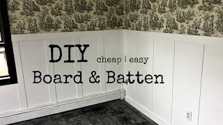 DIY BOARD & BATTEN | Wainscoting