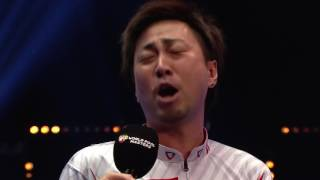 MUST SEE!  HAPPY! NO SPEAK ENGLISH Naoyuki Oi hilarious interview at Dafabet World Pool Masters