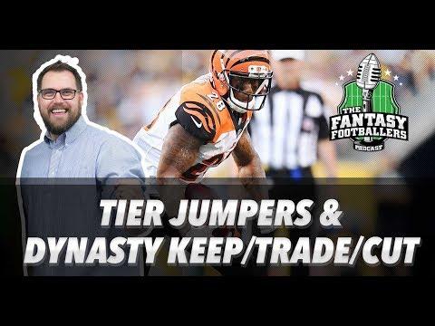 Fantasy Football 2018 - Tier Jumps, Dynasty Keep/Trade/Cut, Jason Moorisms - Ep. #529
