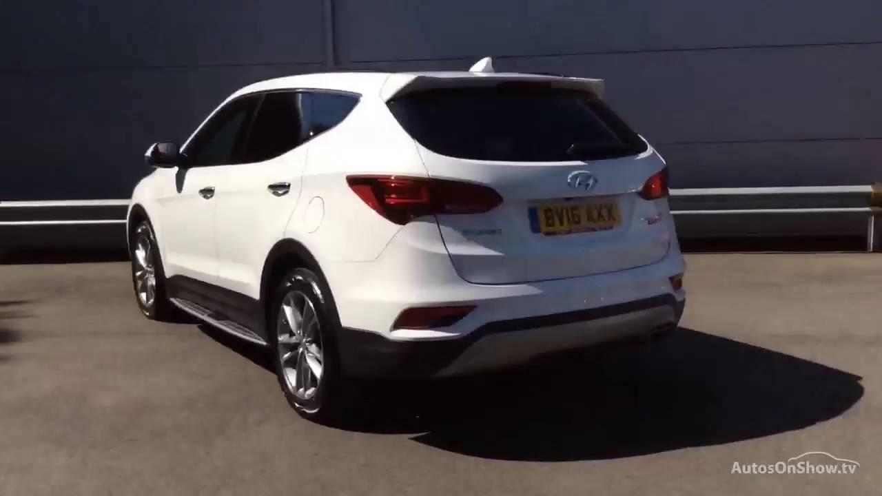 Hyundai Santa Fe Crdi Premium Se Blue Drive White 2016