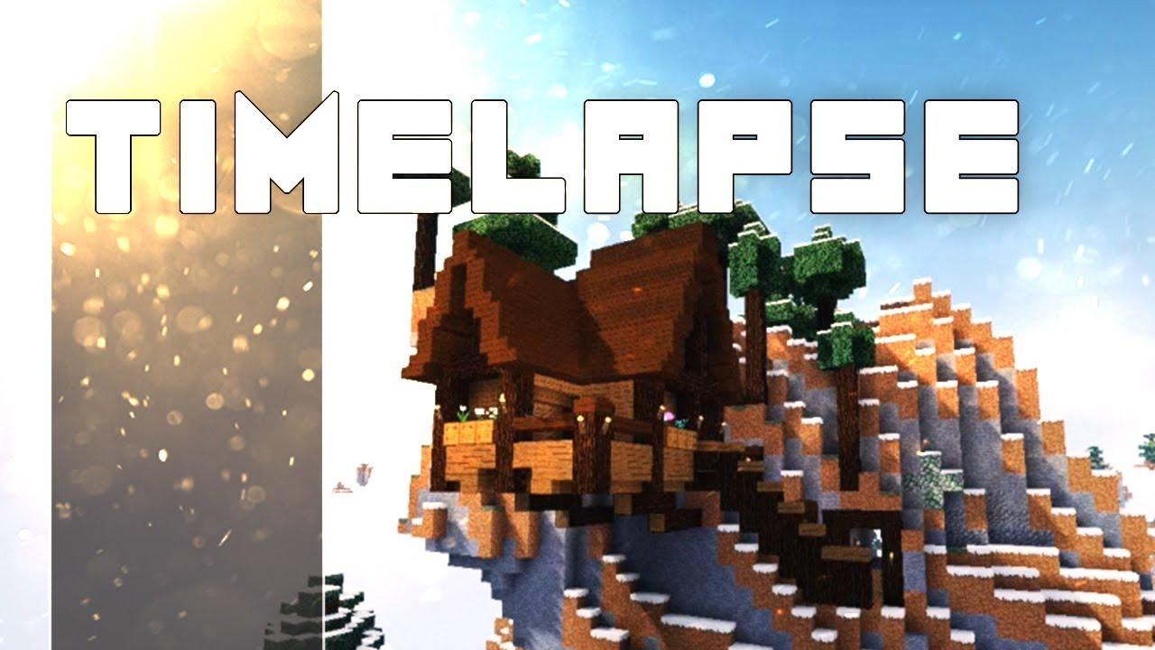 Minecraft Timelapse Maison Sur Une Falaise Youtube