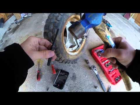 Honda Ct70 Front Brake Shoe Replacement