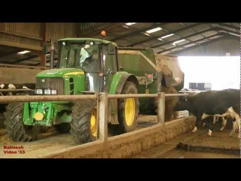 Feeding Cows with John Deere and Keenan.