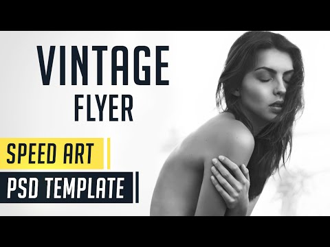 Vintage Flyer | Photoshop Speed Art