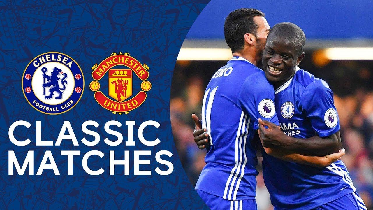 Chelsea 4-0 Man United | N'Golo Kante Scores Superb Solo Goal | Premier League Classic Highligh