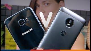 Teléfono BARATO vs CARO!! ¿Cuál celular comprar? | Moto G5 vs Galaxy S7