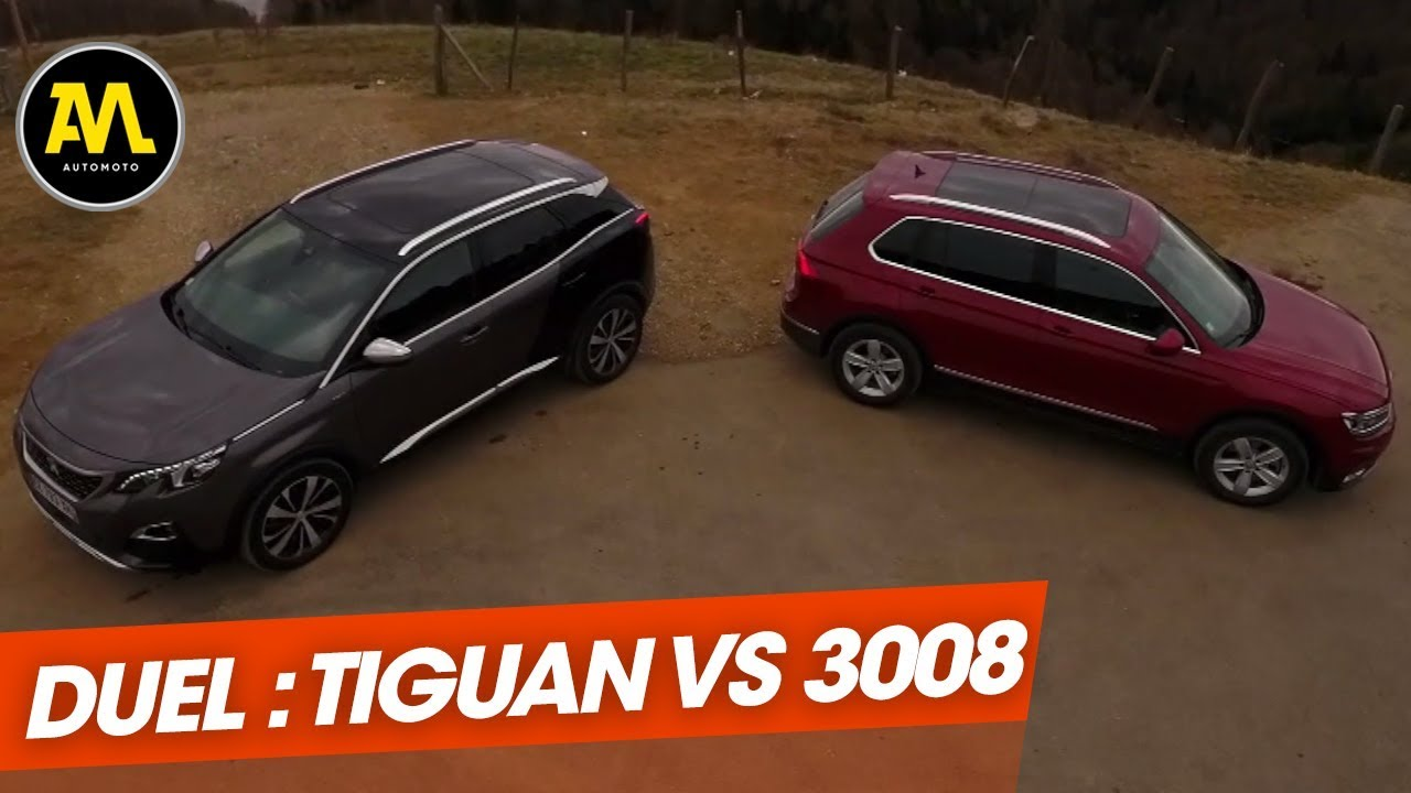 duel de suv volkswagen tiguan vs peugeot 3008 youtube. Black Bedroom Furniture Sets. Home Design Ideas
