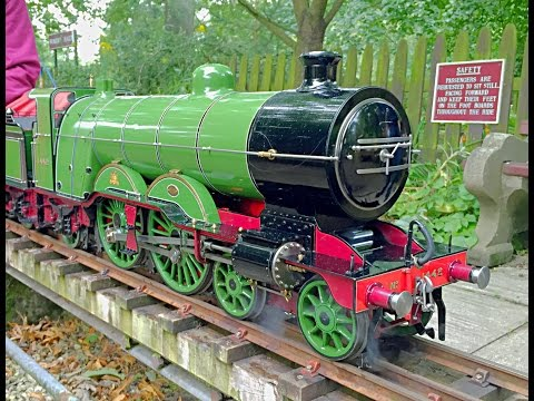 5 inch gauge GNR Atlantic at Leyland MES