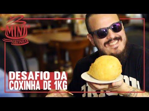 Desafio da Coxinha de 1kg Confeitaria Duquesa Feat. Jornal SBT RIO | #MINICOZINHA