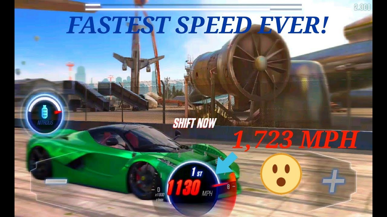 CSR RACING 2 : Fastest Speed Ever 2 008 Sec (1,724 MPH)