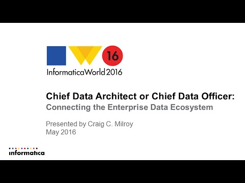 Chief Data Architect or Chief Data Officer: Connecting the E