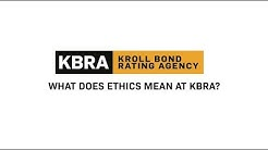 What Does Ethics Mean at KBRA?